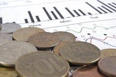 背景看板卡关闭赊帐财务视图 免版税库存图片