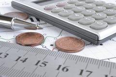 背景看板卡关闭赊帐财务视图 免版税库存照片