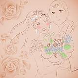 背景看板卡图画邀请向量婚礼白色 免版税图库摄影