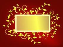 背景看板卡圣诞节金子红色 向量例证