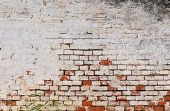 背景砖坏的脏的老墙壁 免版税库存照片