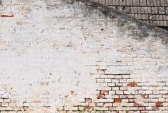 背景砖坏的脏的老墙壁 免版税库存图片