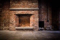 背景砖壁炉 图库摄影