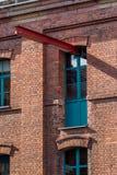 背景砖房子结构白色 免版税库存照片