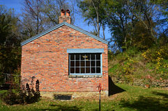 背景砖房子结构白色 库存图片