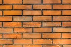 背景砖桔子墙壁 免版税库存图片