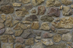背景砖石墙黄色 库存图片