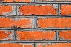 背景砖红色墙壁 免版税库存照片