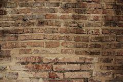 背景砖老墙壁 免版税图库摄影
