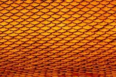 背景砖老纹理墙壁 黏土寺庙瓦屋顶纹理  泰国A 免版税库存照片