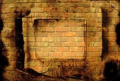 背景砖脏的墙壁 库存图片