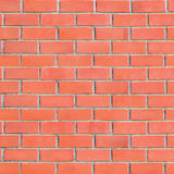 背景砖脏的大红色墙壁 免版税库存照片
