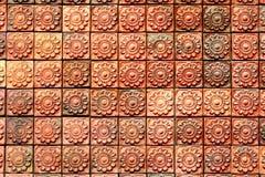 背景砖褐色模式 库存图片