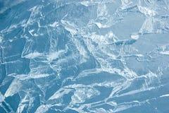 背景破裂的冰表面纹理 免版税库存图片