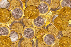 背景硬币欧元 免版税库存图片