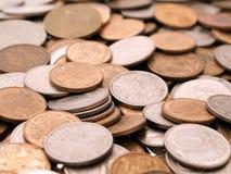 背景硬币 库存图片