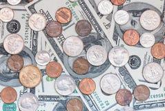 背景硬币 免版税库存照片