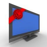 背景礼品电视白色 向量例证