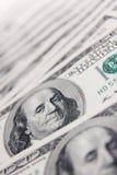 背景票据美元美元一百做 免版税库存图片