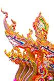 背景空白国王的nagas 免版税库存照片