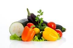 背景空白查出的混合的蔬菜 免版税图库摄影