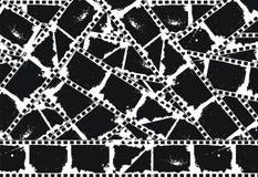 背景空的filmstrips grunge 免版税库存图片