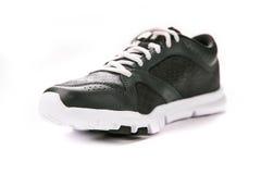 背景穿上鞋子体育运动白色 库存照片