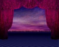 背景窗帘红色 图库摄影