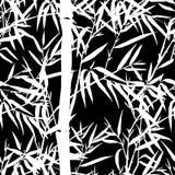 背景竹极其叶子宏指令静脉 与叶子的花卉无缝的纹理 皇族释放例证