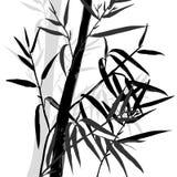 背景竹极其叶子宏指令静脉 竹子的上面 库存例证