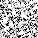 背景竹极其叶子宏指令静脉 花卉无缝的纹理 免版税库存照片