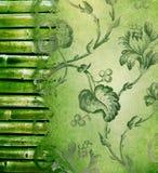 背景竹边界装饰花卉 库存图片