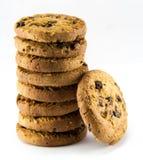 背景筹码空白巧克力的曲奇饼 免版税库存照片