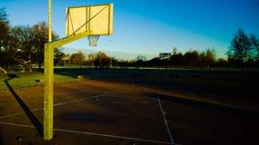 背景篮子文件好操场体育运动 库存图片