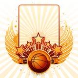 背景篮球 免版税库存照片
