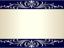 背景米黄蓝色滚动银葡萄酒 免版税库存图片
