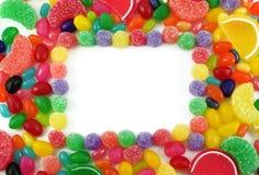 背景糖果五颜六色的构成的果冻 免版税库存图片