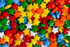 背景糖果多彩多姿的星形 图库摄影
