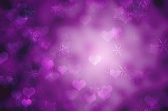 背景紫色浪漫 免版税库存图片