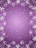 背景紫色雪花 免版税库存图片