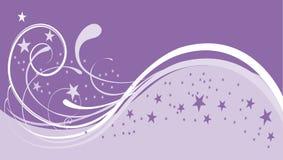 背景紫色雪 库存图片