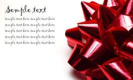 背景红色丝带白色 免版税库存图片