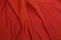 背景红色丝绸 免版税库存图片