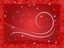 背景红色冬天 免版税库存照片