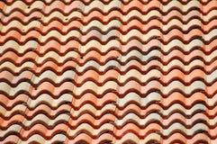 背景红色屋顶 免版税库存照片