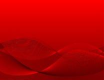 背景红色波浪 向量例证