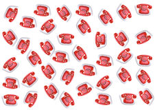 背景红色电话 库存图片