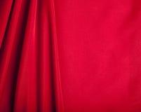 背景红色纺织品纹理天鹅绒 免版税库存图片