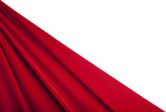 背景红色纺织品纹理天鹅绒 库存照片