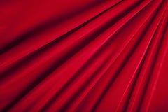 背景红色纺织品纹理天鹅绒 图库摄影